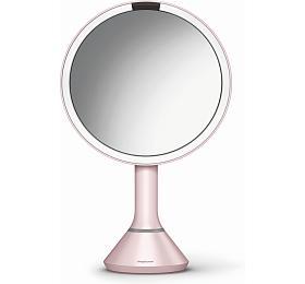 Kosmetické zrcátko Simplehuman Sensor Touch, LED osvětlení, 5x, dobíjecí, pink - Simplehuman