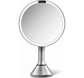 Kosmetické zrcátko Simplehuman Sensor Touch, LED osvětlení, 5x, dobíjecí, matná nerez - Simplehuman
