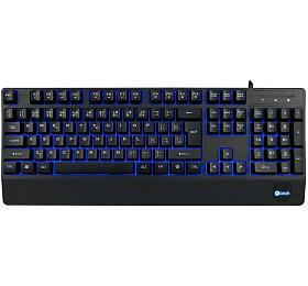 Klávesnice C-TECH KB-104BK, USB, 3 barvy podsvícení, černá, CZ/SK - C-Tech