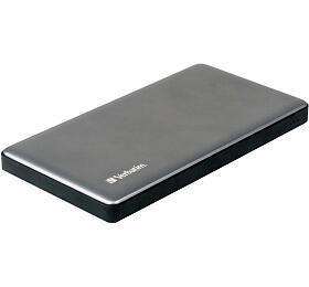 Verbatim Dual Powerbank QC3 10000mAh, 2x USB-A 3.0 + USB-C PD, Metal Silver (49576) - Verbatim