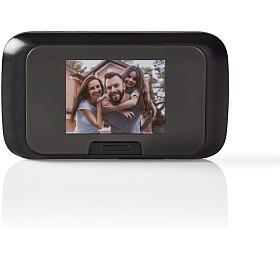 Nedis DOORS10BK - Bezpečnostní Dveřní Videokamera | 2,8