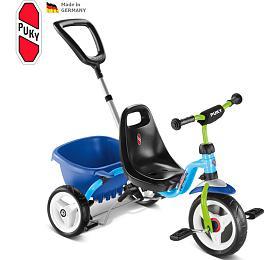 Dětská tříkolka PUKY CAT 1 S, modrá/kiwi - PUKY