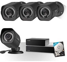 ZMODO ZS-2004-B-1TB - 8CH kamerový systém NVR, 1TB HDD, 4x1080P IR kamery (UMNP10070) - Zmodo