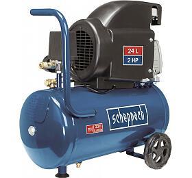 Scheppach HC 26, olejový kompresor 8 bar se vzdušníkem 24 l - Scheppach