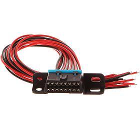 Zásuvka OBD2 s 16 piny ukončená 30 cm propojovacími kabely SIXTOL - Sixtol