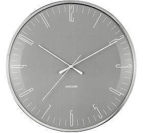 Designové nástěnné hodiny 5754GY Karlsson 40cm - Karlsson