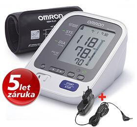 Tonometr OMRON M6 Comfort s Intelli manžetou +ZDROJ (SET) - OMRON