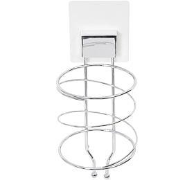 Samolepicí držák na vysoušeč vlasů Compactor Bestlock Magic systém bez vrtání, chrom - Compactor