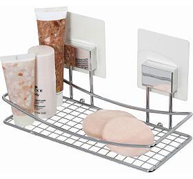 Samolepicí koupelnová police Compactor Bestlock Magic systém bez vrtání, chrom - Compactor
