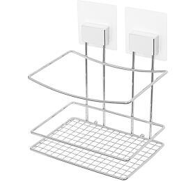 Samolepicí koupelnový košík Compactor Bestlock Magic systém bez vrtání, chrom - Compactor