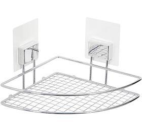 Rohová samolepicí koupelnová police Compactor Bestlock Magic systém bez vrtání, chrom - Compactor