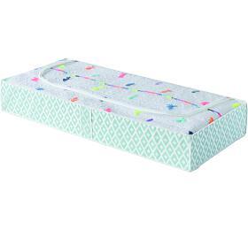 Nízký textilní úložný box na oblečení a přikrývky Compactor Daman 107 x 46 x 16 cm - Compactor