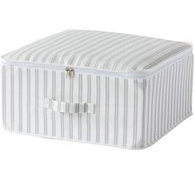 Textilní úložný box na oděvy a přikrývky se zipem Compactor Anton 46 x 46 x 20,5 cm - Compactor