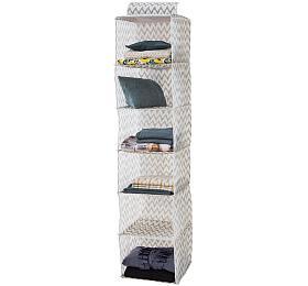 Závěsný organizér na oblečení Compactor Ikat 30 x 30 x 128 cm, 6 polic - Compactor