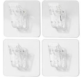 Samolepicí klipy Compactor Bestlock Magic, 4 ks, 4,5 x 4,5 x 1,2 cm - Compactor