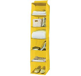 Závěsný organizér na oblečení Compactor Peva 30 x 30 x 128 cm, žlutý, 6 polic - Compactor