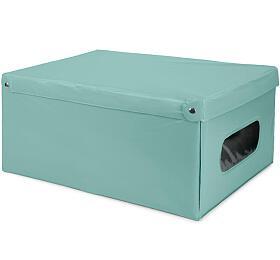 Skládací úložný box PVC se zipem Compactor Nordic 50 x 38.5 x 24 cm, zelený - Compactor