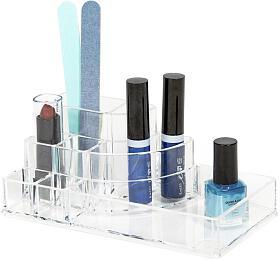 Organizer na kosmetiku a Make-up Compactor - 8 přihrádek, čirý plast - Compactor