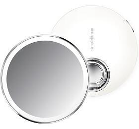 Kapesní kosmetické zrcátko Simplehuman Sensor Compact, LED osvětlení, dobíjecí, 3x, bílé - Simplehuman