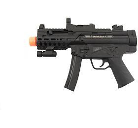 Pistole samopal plast 29cm na baterie se světlem se zvukem na kartě - Teddies