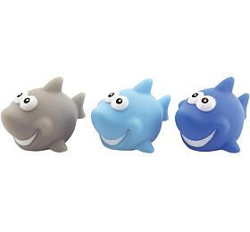 Svítící zvířátko plast hvězdička, žralok, želvička 6 barev v sáčku 24ks v boxu - Teddies