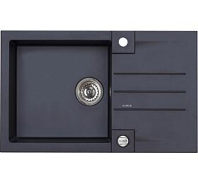 ROCK 130 G- 91 černá (780x480mm)+ pop- up sifon F - Alveus