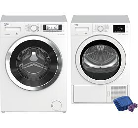 SET Pračka BEKO WTV 8735 XC0ST + Sušička BEKO EDH 8634 CSRX - BEKO
