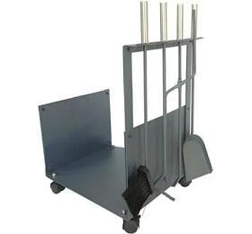 Sada krb. nářadí+ koš (ocel/dřevo) v. 62 cm - OEM
