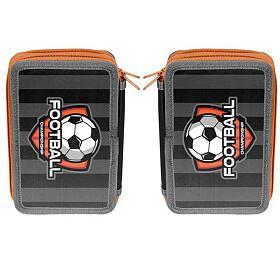 Penál PASO FOOTBALL dvoupatrový, bez vybavení - OEM