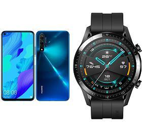 SET Huawei Nova 5T Dual Sim, Crush Blue + Huawei Watch GT 2, černé - HUAWEI
