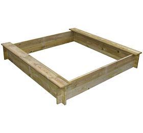 Marimex pískoviště dřevěné čtyřhranné se dvěma sedátky (11640356) - Marimex