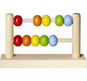 Počítadlo kuličkové dřevěné 19x11,5cm - Detoa