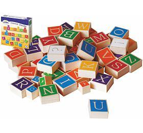 Dřevěná abeceda v krabici 23x23x5cm - Detoa