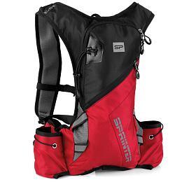 Spokey SPRINTER Cyklistický a běžecký batoh 5l černo/červený, voděodolný - Spokey