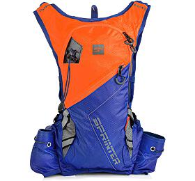 Spokey SPRINTER Sportovní, cyklistický a běžecký batoh 5 l, oranžovo/modrý, voděodolný - Spokey