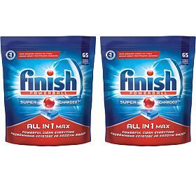 SET Tablety FINISH ALL IN ONE MAX 65ks + Tablety FINISH ALL IN ONE MAX 65ks - Finish