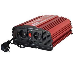 Měnič napětí CARSPA CPS 600 12V/230V 600W čistá sinusovka+ UPS+ nabíječka - CARSPA