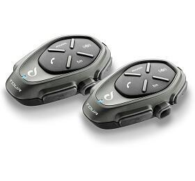 Bluetooth handsfree pro uzavřené a otevřené přilby CellularLine Interphone TOUR Twin Pack - Interphone