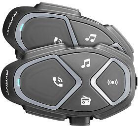 Bluetooth handsfree pro uzavřené a otevřené přilby CellularLine Interphone AVANT, Twin Pack - Interphone