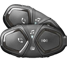Bluetooth handsfree pro uzavřené a otevřené přilby CellularLine Interphone ACTIVE, Twin Pack - Interphone