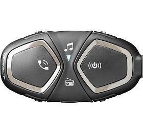 Bluetooth handsfree pro uzavřené a otevřené přilby CellularLine Interphone CONNECT, Single Pack - Interphone