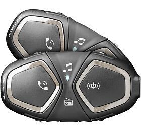 Bluetooth handsfree pro uzavřené a otevřené přilby CellularLine Interphone CONNECT, Twin Pack - Interphone