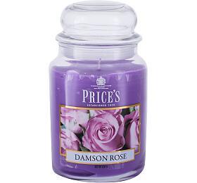 Vonná svíčka Price´s Candles Damson Rose, 630 ml - Price´s Candles
