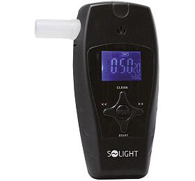 Solight alkohol tester profi, 0,0 - 3,0‰ BAC, citlivost 0,1‰, barevný displej, automatické čištění - Solight