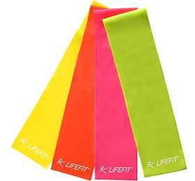 Posilovací guma Lifefit FLEXBAND 0,45, žlutá - LIFEFIT