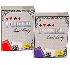 Poker ALBI - karty papírové modré - Albi