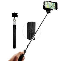 Selfie tyč C-TECH teleskopická, bluetooth (MP107B), dálková spoušť, černá - C-Tech