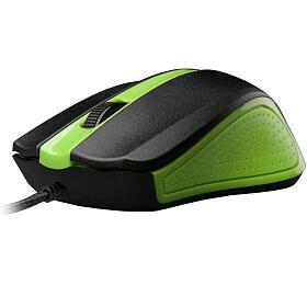 Myš C-Tech WM-01G / optická / 3 tlačítka / 1200dpi - zelená - C-Tech