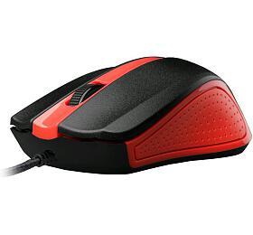 Myš C-Tech WM-01R / optická / 3 tlačítka / 1200dpi - červená - C-Tech