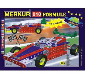 Stavebnice MERKUR 010 Formule 10 modelů 223ks v krabici 26x18x5cm - Merkur Toys